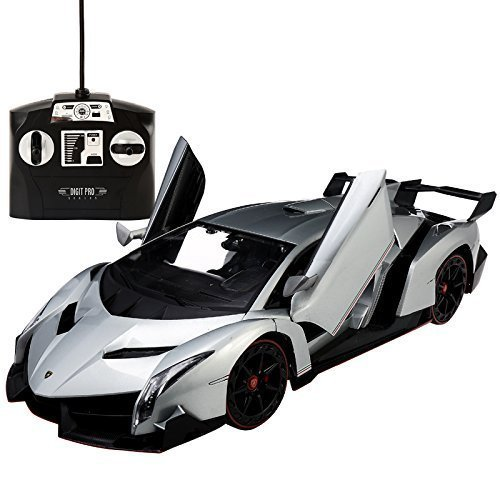 Lamborghini Veneno 1:14 Radio Control RC Vehicle Car Model w/Batteries Included Open Doors (color may vary) FMTStore