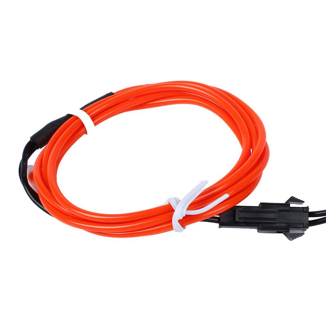 Red SeaStart LED Car Light 1 m EL Flexible Neon Wire Tube 12 V Inverter