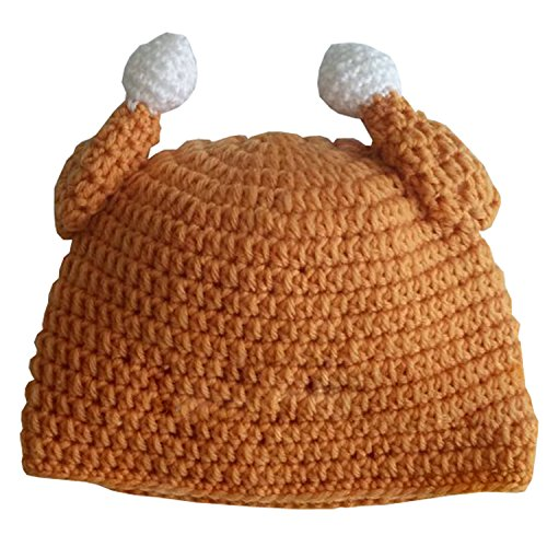 Thanksgiving Costumes For Babies (Turkey Thanksgiving Baby Hat - Brown Winter Crochet Beanie)
