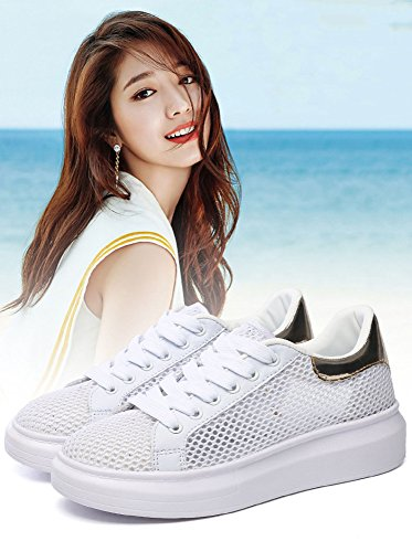 Permables Super Creuse Chaussures Fire Rsille Blanches 40 L'air En Lgres Sbl Or Occasionnelles wqEHTfX