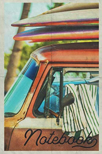 Notebook: Camper Van Conversion Chic Composition Book Journal Diary for Men, Women, Teen & Kids Vintage Retro Design Surf Adventures
