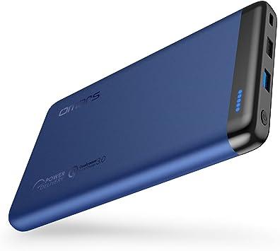 Omars 20000 mAh Batería Externa Banco de Energía con 45W USB C Carga de Energía PD, USB 3.0 QC Carga Rápida para iPhone X/8/8 Plus, Sumsung Galaxy S8/S7, Nintendo Switch y Más: