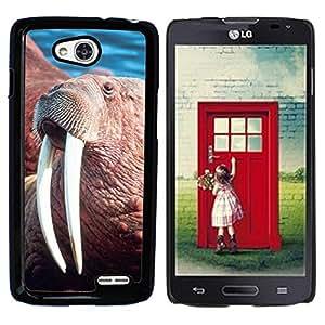 GoGoMobile Slim Protector Hard Shell Cover Case // M00118611 Rosmarus Odobenus Head Male Walrus // LG Optimus L90 D415