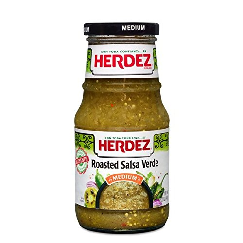 (2 Pack) Herdez Roasted Salsa Verde Medium - 15.7 Ounces