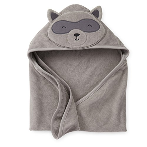 [Baby Cotton Animal Costumes Hooded Blankets Infant Terry Bath Towel Care Clothing (Gray)] (Homemade Monkey Costumes For Babies)