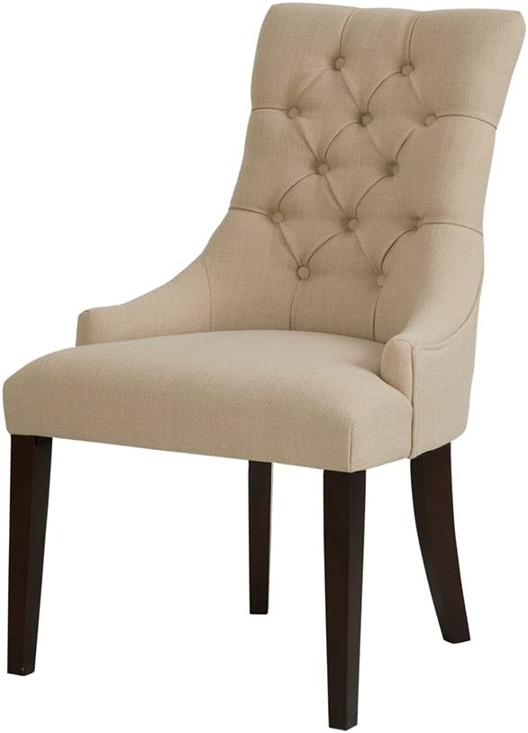 Madison Park Corbel Tufted Back Dining Chair Cream Sets of 2