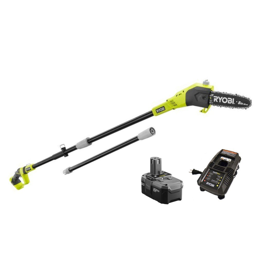 Ryobi ZRP4361 One+ 18-Volt 9.5 ft. Cordless Electric Pole Saw Kit - P105 (Upgraded from P102 ) Battery & P118 Charger (Certified Refurbished)