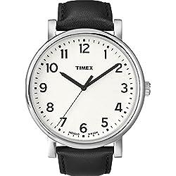 Timex Originals T2N338 Mens Classic White Dial Black Strap Dress Watch