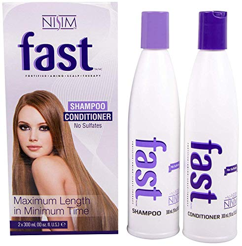 NISIM F.A.S.T Fortified Amino Scalp Therapy Shampoo & Conditioner- Promote Fast and Healthy Hair Growth (10 Ounce /300 Milliliter)