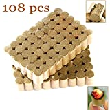108pcs Moxa Cone sticks for moxibustion (108 packs) for Traditional Chinese Medicine Copper Moxibustion Box Acupuncture Heating Massage