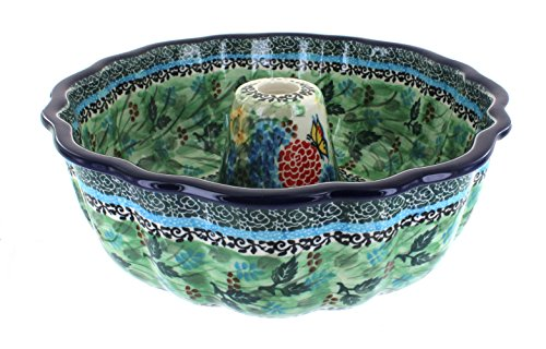 Blue Rose Polish Pottery Teresa Bundt Pan