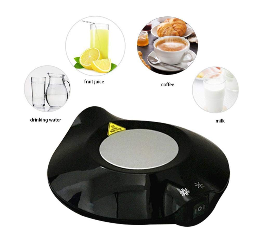 Volwco Dual Use USB Cooler Warmer Cup Coffee Tea Beverage Cans Cooler & Warmer Heater Chilling Coasters Mini Fridge Refrigeration Hot,Ideal for Gift,Coffee,Tea,Drink
