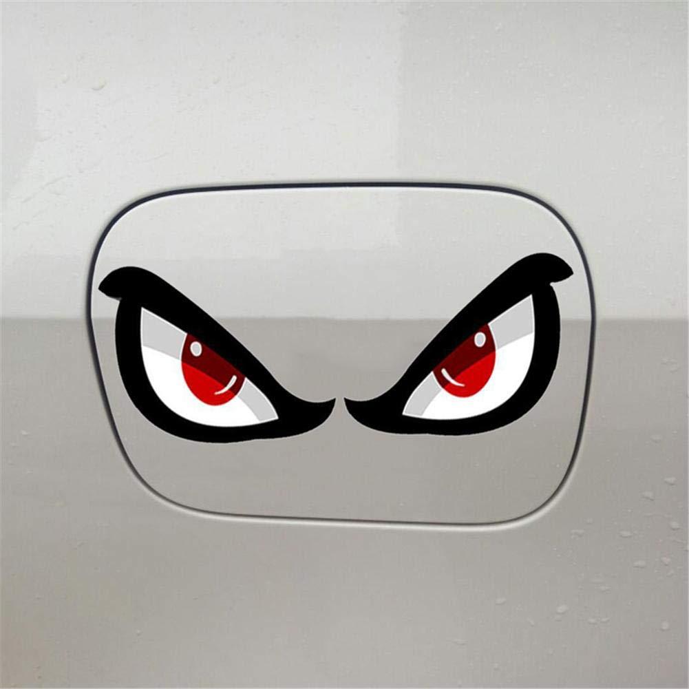D/écoration r/éfl/échissante de Voiture Autocollant de Protection Solaire /étanche pour r/étroviseur Moto Portes Corps Cherishly Car 3D Simulation Shark Eyes Pattern Sticker