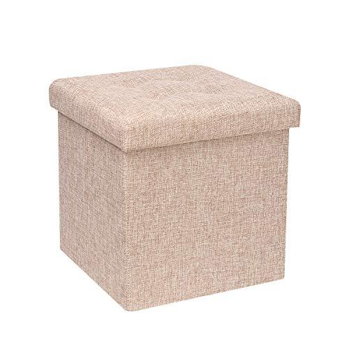 Pillows Footstools - B FSOBEIIALEO Storage Ottoman Cube, Toy Chest Folding Footrest Stool Seat, 12.6