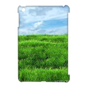 3D IPad Mini Case Hipster Protective Realistic Grass, Grass Cute Apple Ipad Mini Case [White]