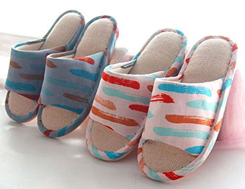 Pantofole Da Bagno Cattior Mens Comode Pantofole Interne Da Bagno Casa Aperta Punta Blu