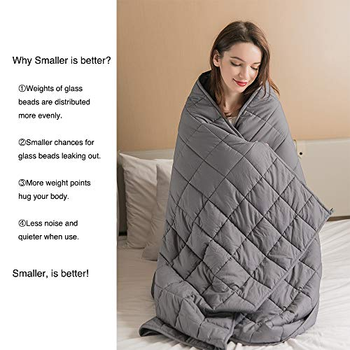 "raded 3.0 | Cooling Weighted Blanket | Natural Organic Cotton | 4""x4"" Smaller Pockets 