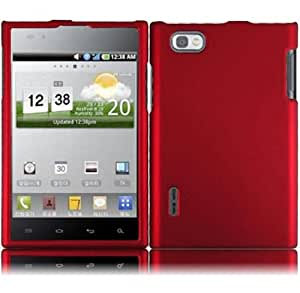 For LG Intuition VS950 Hard Cover Case Red