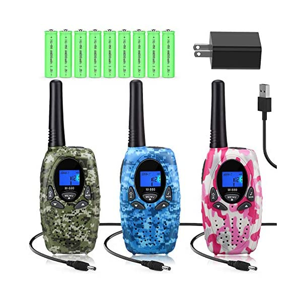 Topsung Walkie Talkies Rechargeable for Kids/Adults, FRS Rechargeable Two Way Radios...
