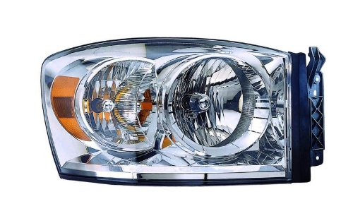 (Dodge Ram Pickup (07-08 Only New Style) Replacement Headlight Assembly - Passenger Side)