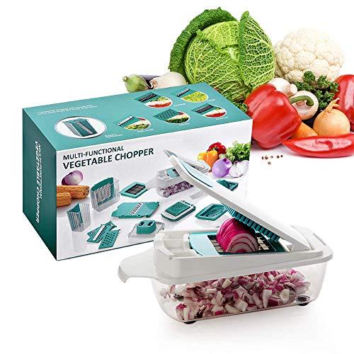 - Pro Vegetable Chopper Onion Chopper by Smautop, Upgraded Mandoline Slicer Dicer Salad Food Chopper, With 11 interchangeable Blades, Multi Kitchen Gadgets Adjustable Food Cutter Graters Spiralizer Vege
