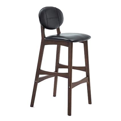 Swell Amazon Com Htsy Bar Chairs Kitchen Wooden Black Leather Customarchery Wood Chair Design Ideas Customarcherynet
