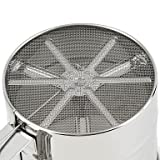 1Pc Stainless Steel Mesh Flour Sifter Mechanical