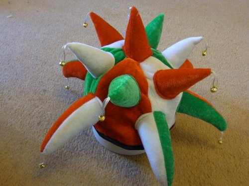 [Jester hat in colours of Mexico Mexican Flag - Ideal for fancy dress] (Mexico Fancy Dress)