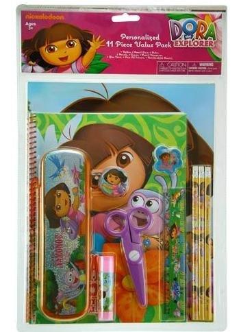 Dora 11pc Value Pack with Plastic Pencil Case