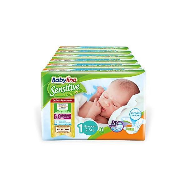 Babylino Sensitive Newborn, 168 Pannolini Taglia 1 (2-5Kg) 1