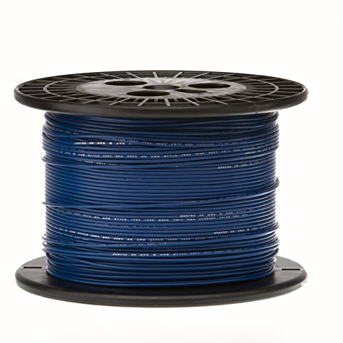 20 AWG Gauge Stranded Hook Up Wire, 1000 ft Length, Blue, 0.0320'' Diameter, UL1015, 600 Volts by Remington Industries