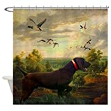 CafePress - vintage hunting pointer dog Shower Curtain - Decorative Fabric Shower Curtain