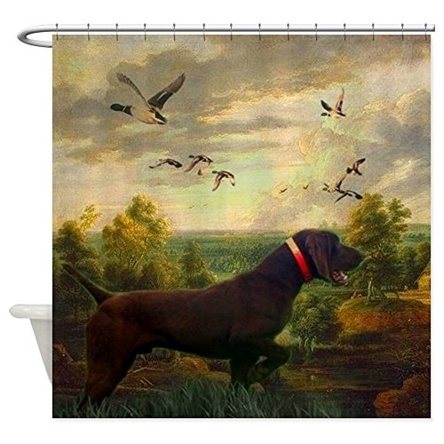 """CafePress - vintage hunting pointer dog Shower Curtain - Decorative Fabric Shower Curtain (69""""x70"""")"""
