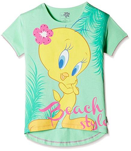 Tweety Girls' T-Shirt (TW0EGT247_Aqua Green_7 - 8 years)