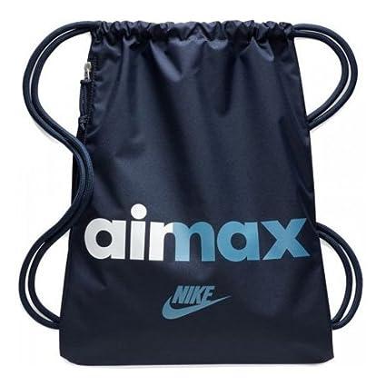 Nike Heritage GMSK 2-GFX Bolsa con Cuerdas, Unisex Adulto, obsidiana/Azul