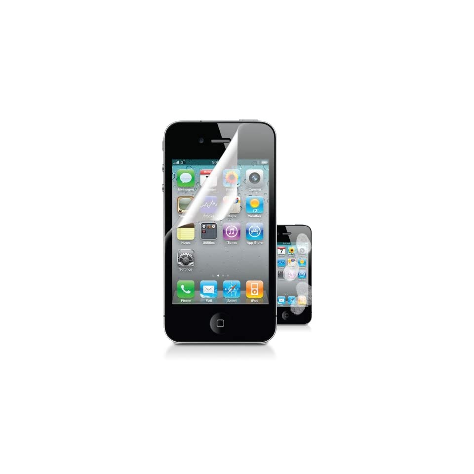 Hip Street iPhone 4 Anti Fingerprint Screen Protectors   Retail Packaging   Black