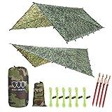 Best Camping Tarps - 12' XL TARP Hammock Waterproof RAIN Fly Tent Review