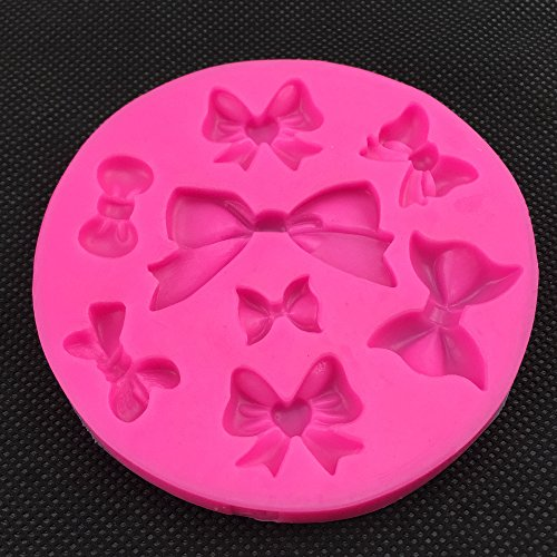 Amazon.com: Bowknot Shape fondant cake silicone mold for polymer clay molds kitchen baking chocolate pastry candy Clay making decoration 218 by QCMALL: ...