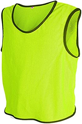 ALL THE GOOD 10 x Petos de Entrenamiento de fútbol Petos Pegatinas de  Camisa Petos Trikots Neon Geld Talla S SX 3f75d731e4071