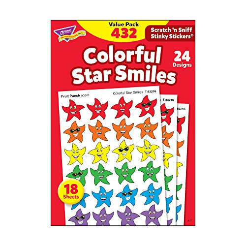 TREND enterprises, Inc. Colorful Star Smiles Stinky Stickers Variety Pack, 432 ()