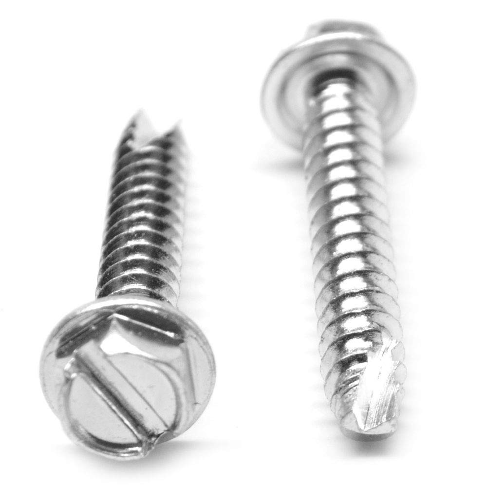"Slotted Sheet Metal Screw-Zinc Plated #10 x 3//8/"" Hex Washer Hd Lot of 1000 Pcs"