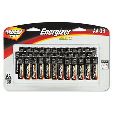 Energizer® E91SBP36H - MAX ALKALINE BATTERIES, AA, 36 BATTERIES/PACK