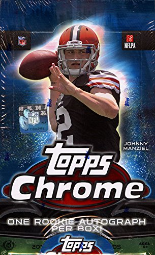 2014 Topps Chrome NFL Football Factory Sealed HOBBY Box with 24 Packs and RC AUTOGRAPH! Every Box includes 24 Rookie Cards, 8 REFRACTORS, 1 Die-Cut Chrome RC & 1 EXCLUSIVE #'d Blue Wave Refractor!