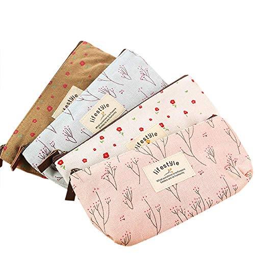 Rolybag Cute Floral Flower Canvas Zipper Pencil Cases,...