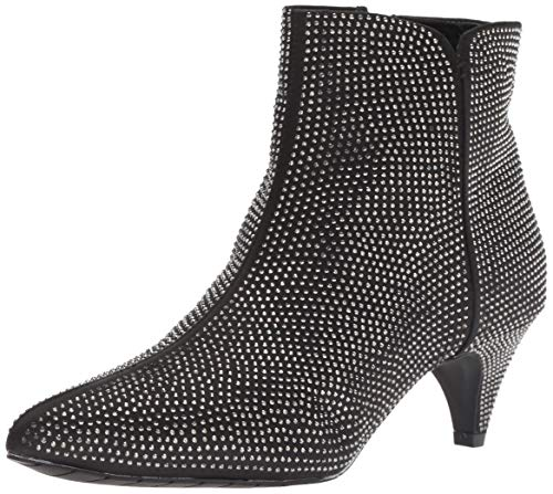- Kenneth Cole REACTION Women's Kick Bit Kitten Heel Bootie Ankle Boot, Black/Silver, 8.5 M US