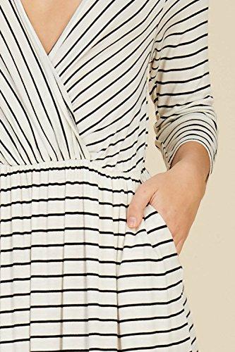 3 Women 4 Tie V Black Sleeve Waist Long Ivory Annabelle Maxi Pockets Neck Wrap s Dresses tFEdnw