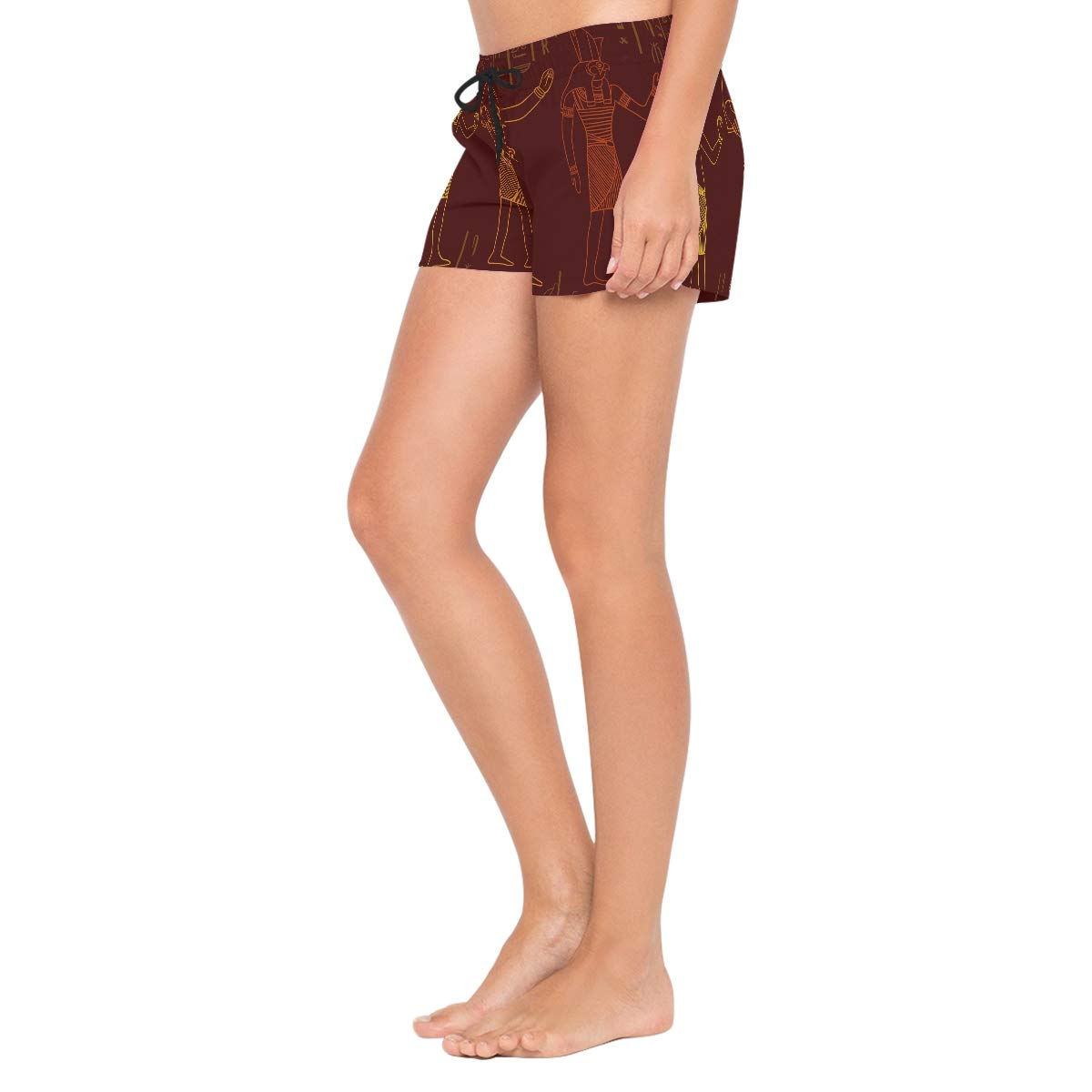 XiangHeFu Womens Beach Shorts Ancient Egyptian Style Swim Trunk with Pockets
