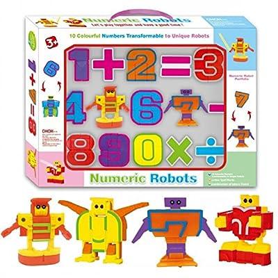 SSJ Kids Children Educational Toys Magic Number Robots 10 Pieces