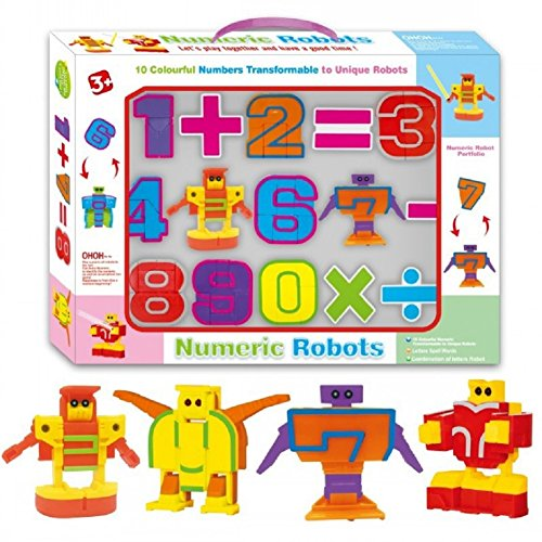 SSJ Kids Children Educational Toys Magic Number Transformers Robots 10 Pieces