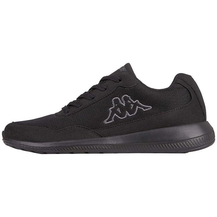 Kappa Follow Sneakers Damen Herren Unisex Schwarz/Grau (Sohle Schwarz)